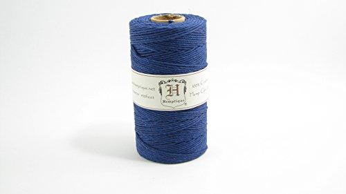100% Hemp Craft Cord -JUMBO -Spools - 20# Test - 100 Gram/410 Feet -14 solid colors (Navy Blue) -