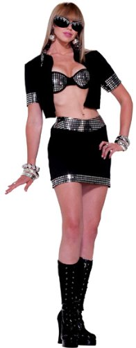 Forum Novelties Women's 70's Disco Jacket, Black/Silver, One Size
