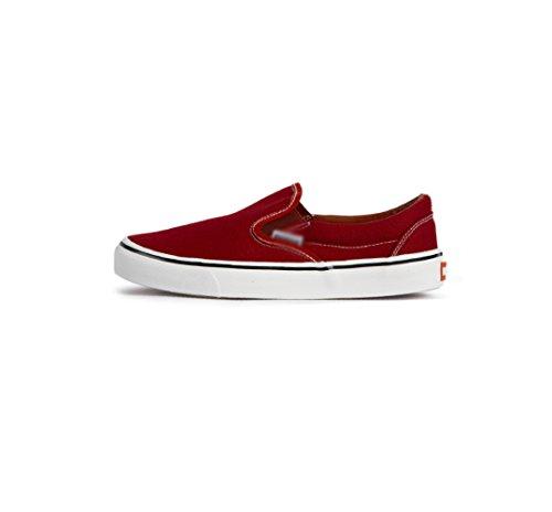 WFL Rosso degli scarpe casual di scarpe per uomini di tela scarpe uomo Scarpe da bassi da autunno primavera studente casual scarpe aiutare scarpe stoffa e pigri qF4qrY