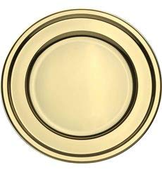 6 Presentation Trays for Baking or Cold Buffet Extiff Set of Round Gold Plastic Trays 23 Cm