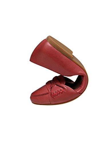 Scarpe Da Donna A Punta Rossa In Pelle Di Vitello Zoulee