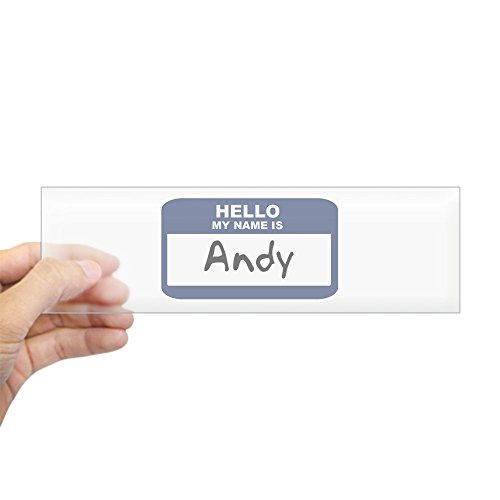 Andy Sticker - CafePress - Hello: Andy Bumper Sticker - 10
