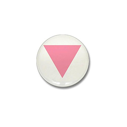 CafePress Pink Triangle Mini Button 1