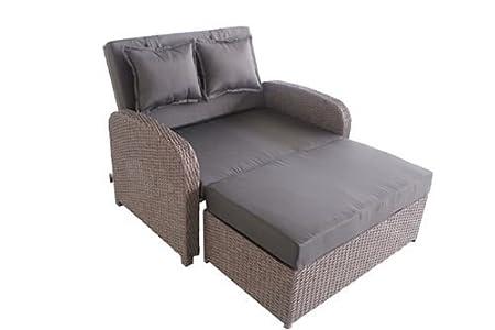 Amazon.de: greemotion Rattan-Lounge Bali, Sofa & Bett aus Polyrattan ...