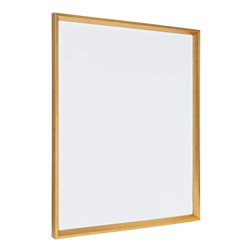 Kate and Laurel Calter Framed Magnetic Dry Erase Board, Gold 25.5x31.5 ()