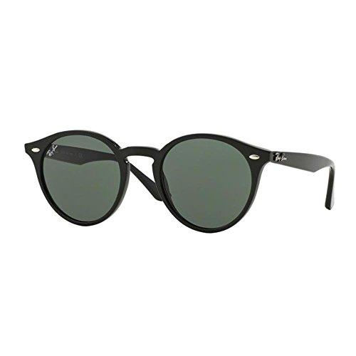 Ray-Ban Men's Plastic Man Round Sunglasses, Black, 51 - Ban Plastic Round Ray