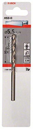 Bosch 2 608 585 925 DIN 338 Broca para metal HSS-G 5,5 x 57 x 93 mm