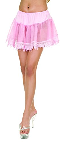 Charades Women's Tear Drop Size Costume Petticoat, Pink, Plus ()