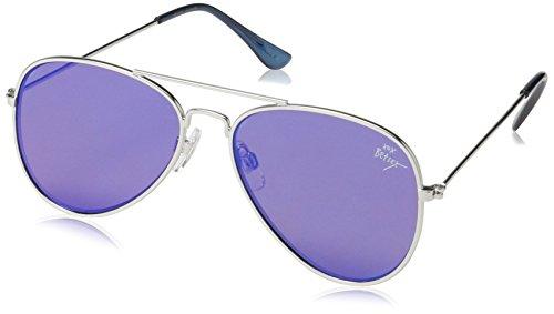Betsey Johnson Women's Lizzie Aviator Sunglasses, Blue, 58 - Aviator Betsey Sunglasses Johnson