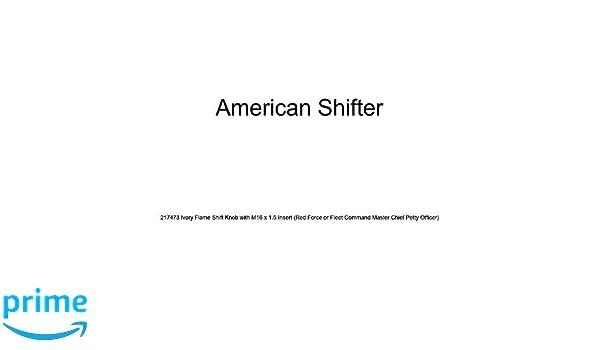 Orange Hawaiian Flower #10 American Shifter 122892 Green Stripe Shift Knob with M16 x 1.5 Insert