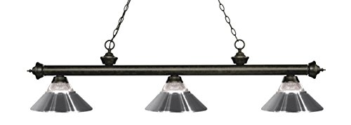 Riviera Traditional Ceiling Fan - Z-Lite 200-3GB-RCH Riviera 3 Billiard Light