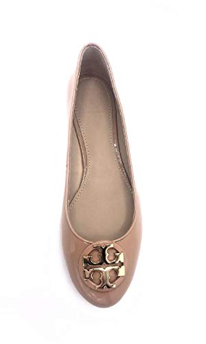 - Tory Burch Claire Patent Leather Ballet Flats Makeup Light Beige, Size 8.5