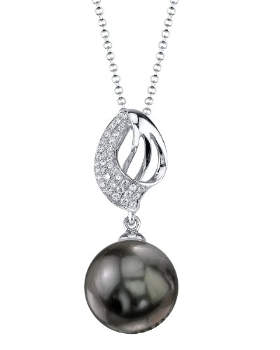 Pendentif Perle de culture de Mer du sud de Tahiti et Diamant Or 18K Adele