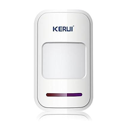 Kerui - Sistema de alarma inalámbrica, sensores infrarrojos pasivos, detectores de movimiento por infrarrojos