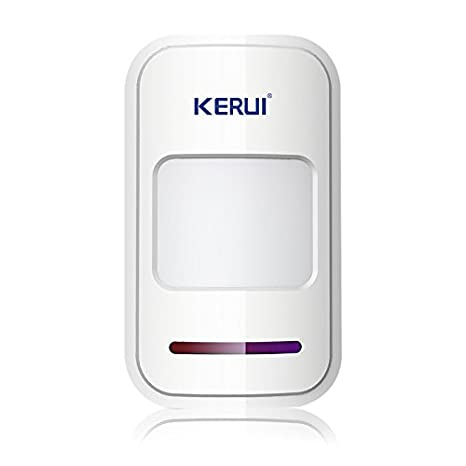 Kerui - Sistema de alarma inalámbrica, sensores infrarrojos pasivos, detectores de movimiento por infrarrojos, sirena, 433 MHz, seguridad para el hogar: ...