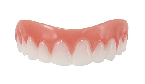 Billy Bob Instant Smile Comfort Fit Flex Cosmetic Teeth, One Size Fits Most, Comfortable Upper Veneer]()