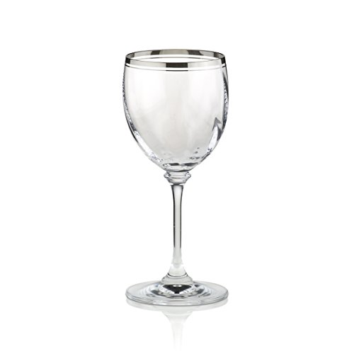 (Mikasa Stephanie Platinum Wine Glass)