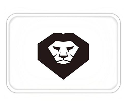 Beshowere Doormat lion head vector logo template concept illustration wild cat graphic sign design - Lion Logo Versace