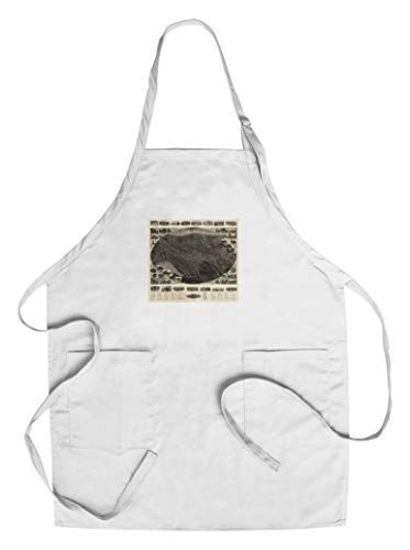 Winsted, Connecticut - Panoramic Map (Cotton/Polyester Chef's Apron)