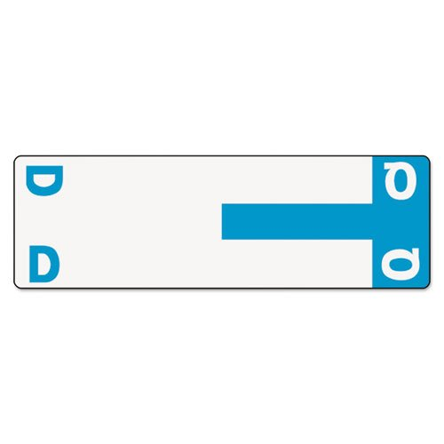 Alpha-Z Color-Coded First Letter Name Labels, D & Q, Light Blue, 100/Pack, Sold as 100 Each