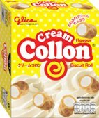 10 of *Glico Collon* Biscuit Roll Fill with Cream (Net Weight 54g.x 10)