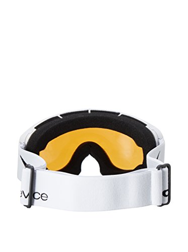 Black Embout Crevice Masque de ski pour enfant, bcr011290 Taille unique blanc/noir