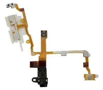 Iphone 3g Parts (iPhone 3g / 3gS Headphone Audio Jack Flex Cable With Metal Buttons Pre-Installed - Black)