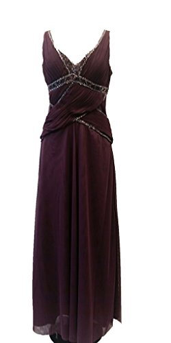 WWW USA Desinger Sexy Dress Chiffon Beaded Sleeeveless Full Length Formal Prom Party S