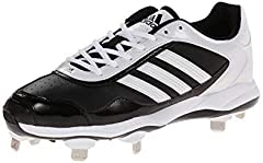100% Synthetic Leather/Synthetic Nubuck/Textile Imported n/a Synthetic sole Low cut softball cleat with metal spikes Combination synthetic leather and synthetic nubuck for support and fit Full length compression molded ethylene vinyl acetate ...
