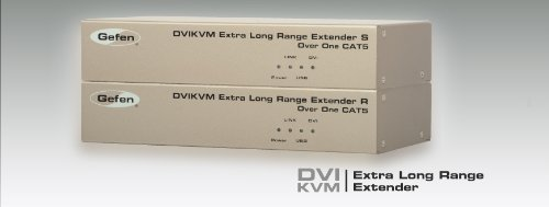 Gefen DVI KVM Long Range Console Extender over Single CAT5 up to 330ft EXT-DVIKVM-ELR