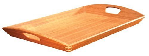 bamboo butler s tray trays dinnerware serving dishes kitchen dining
