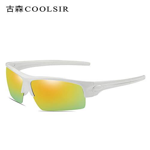 1 nbsp;polarizadas de Hombre sunglasses Libre Sol Gafas nbsp;Colores Deportes Mjia de de al Rojo Montar polarizados Aire frame Deportivas Marco Gafas Espejo White RwXx0