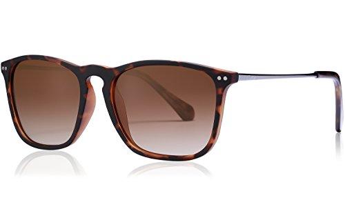 Carfia Vintage Polarized Sunglasses for Men, 100% UV400 Protection (Brown - 100 Protection Uv400