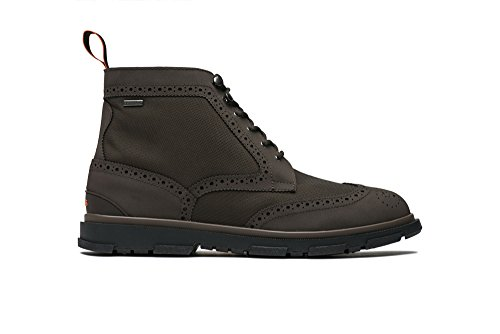 SWIMS Storm Brogue High Boot, Brown/Black, 12 by SWIMS