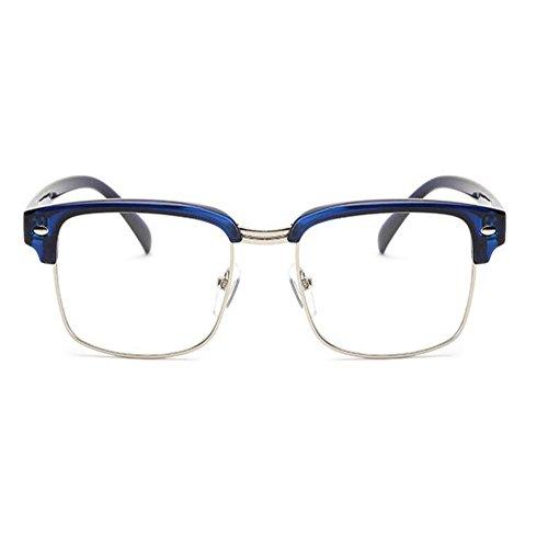 Semi Mujer Azul Xinvision Lente Hombre Gafas sin Eyewear montura Computadora Moda Claro Retro Casual OOwxFEU7
