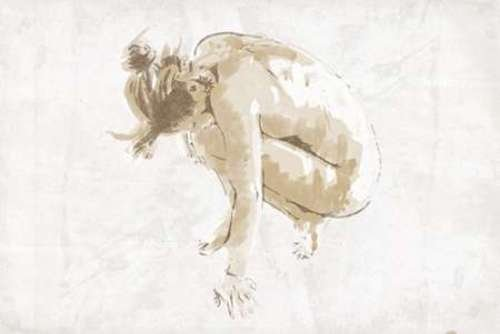 """Nude Pose Mate by OnRei - 8"""" x 12"""" Giclee Canvas Art Print"""
