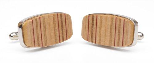 Tokens & Icons Wood Tennis Racquet Cross Section Cufflinks ()
