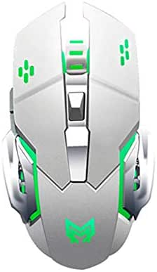 Wireless Mouse Cordless Mouse Rechargeable Wireless Gaming Mouse With USB Receiver 4 Color Variations Circulatory Respiratory Light Wireless Mouse Optical Gaming Office Ergonomic Mouse High Quality