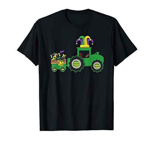 Tractor Mardi Gras Shirt For Boy Kid Toodler]()