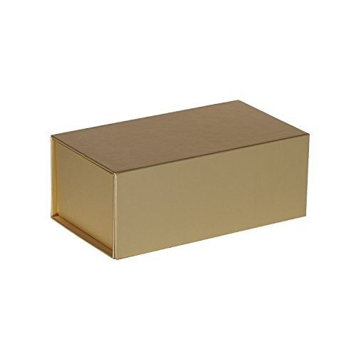 Jillson Roberts 36-Count Medium Magnetic Closure Gift Boxes Available in 5 Colors, Metallic Gold Matte by Jillson Roberts