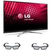 "LG 60PM9700 60"" Class Full HD 1080p Plasma 3D Smart TV, Bundle - with Two LG AG-S350 PDP SG 3D Glasses"