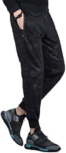 メンズカモフリースアスレチックカジュアルルーズジョガーパンツ