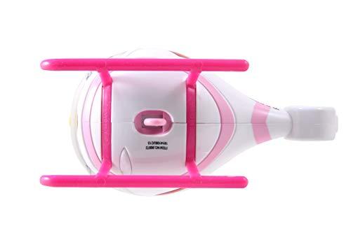 31RH%2Br6n0vL Helicóptero de juguete de Hello Kitty diseñado en colores brillantes rosa y blanco, recomendado para niños a partir de 3 años Equipado con una cabina de cristal cuyo parabrisas puede abrirse muy fácilmente; una pequeña figura de Hello Kitty toma su lugar en la palanca de conducción y tiene todo bajo control La camilla se puede sujetar a la parte inferior del helicóptero para poder despegar sin problemas