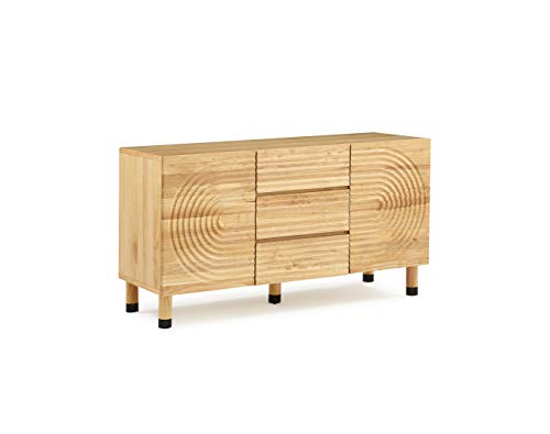 Now House by Jonathan Adler Josef Sideboard Buffet, Blonde Wood For Sale
