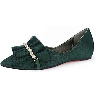 Low 5 3 1In Casual UK5 EU38 Heel 4In Walking Flats Green Women'S Black Comfort Pu 1 5 CN38 Summer US7 Comfort HqPUO0wn