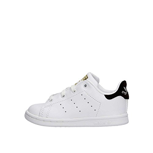 adidas Unisex Baby Stan Smith Sneaker, Bianco/Blu Bianco (Ftwbla / Ftwbla / Negbas)