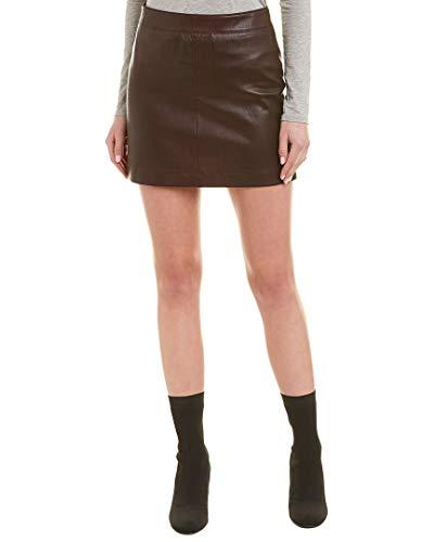 Helmut Lang Womens Stretch Leather Mini Skirt