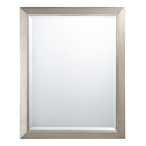 "KICHLER Lighting 41011NI Rectangular Wall Mirror Brushed Nickel, 24"" W x 30"" H,"