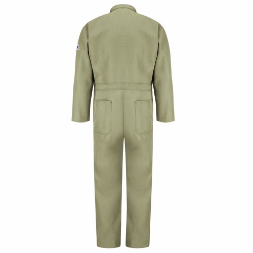 Bulwark Flame Resistant 4.5 oz Nomex IIIA Long Classic Coverall with Hemmed Sleeves, Tan, Size 56 by Bulwark FR (Image #2)