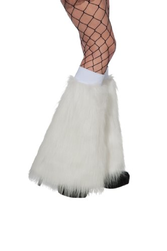 Rubie's Costume Fluffies Faux Furry Leg Warmers, White, O...
